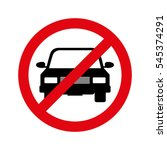parking prohibited sign... | Shutterstock .eps vector #545374291