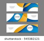 set of web banner templates for ... | Shutterstock .eps vector #545382121