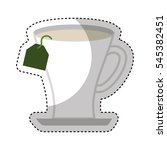 tea cup beverage isolated icon... | Shutterstock .eps vector #545382451
