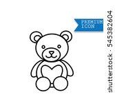 bear doll icon | Shutterstock .eps vector #545382604