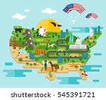 tourist infographics about... | Shutterstock .eps vector #545391721