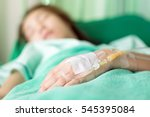 close up of a woman patient in... | Shutterstock . vector #545395084