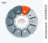 vector circle chart infographic ... | Shutterstock .eps vector #545398231