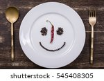 Happy Smiley Face On Dish Whit...