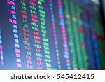 stock exchange board background | Shutterstock . vector #545412415