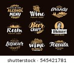 menu bar  icons set. labels of... | Shutterstock .eps vector #545421781