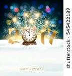 happy new year 2017 background... | Shutterstock .eps vector #545422189