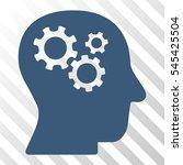 blue intellect gears toolbar... | Shutterstock .eps vector #545425504