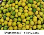 fresh lemons limes texture... | Shutterstock . vector #545428351