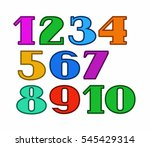 numbers color  colored outline  ... | Shutterstock .eps vector #545429314