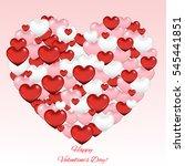 valentin heart of hearts | Shutterstock .eps vector #545441851