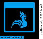 rooster calendar page icon.... | Shutterstock .eps vector #545449564