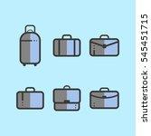 set of suitcases in flat design ... | Shutterstock .eps vector #545451715