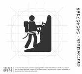 person rock climbing. vector... | Shutterstock .eps vector #545457169