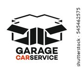 garage and car service logo | Shutterstock .eps vector #545462575