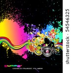abstract colorful background... | Shutterstock .eps vector #54546325