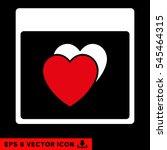 hearts calendar page icon.... | Shutterstock .eps vector #545464315