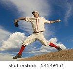 Vintage Style Baseball Pitcher...