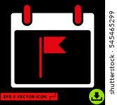 flag calendar day icon. vector... | Shutterstock .eps vector #545465299