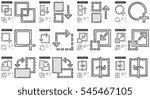 content edition vector line... | Shutterstock .eps vector #545467105