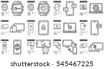 mobility vector line icon set...   Shutterstock .eps vector #545467225