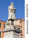 Small photo of Statue of Niccolo' Tommaseo in Venice, famous italian linguist, journalist and essayist