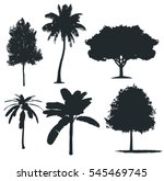 set of different tree  | Shutterstock .eps vector #545469745