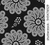 paisley. circular seamless... | Shutterstock .eps vector #545478529