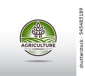agriculture company logo... | Shutterstock .eps vector #545485189