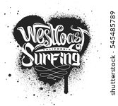 west coast surfing print for... | Shutterstock .eps vector #545485789