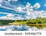 river landscape with... | Shutterstock . vector #545486779