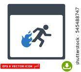 fire evacuation man calendar... | Shutterstock .eps vector #545488747