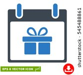 gift box calendar day icon....