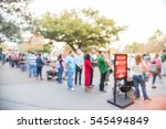 blurred long people queuing in... | Shutterstock . vector #545494849