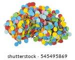 heap of festive paper circular...   Shutterstock . vector #545495869