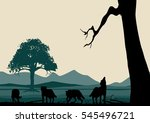 wolves silhouettes and wildlife ...
