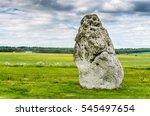 Heel Stone At Stonehenge On A...