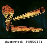 two kinds of weed joint or... | Shutterstock .eps vector #545503591