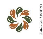 green leaf flower logo template   Shutterstock .eps vector #545505721