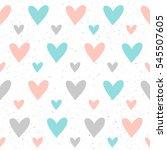 heart seamless pattern... | Shutterstock .eps vector #545507605