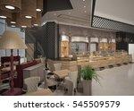 3d rendering of a patisserie... | Shutterstock . vector #545509579