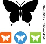 butterfly moth icon | Shutterstock .eps vector #545513989