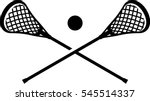 lacrosse sticks and ball icon | Shutterstock .eps vector #545514337