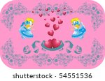 lovely hearts surrounded by... | Shutterstock .eps vector #54551536