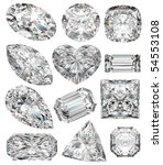 diamond shapes isolated on... | Shutterstock . vector #54553108