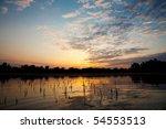 beautiful sunrise landscape...   Shutterstock . vector #54553513