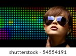 portrait of a beautiful dancing ... | Shutterstock . vector #54554191