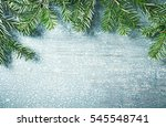natural  rustic christmas... | Shutterstock . vector #545548741
