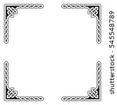traditional celtic braided... | Shutterstock .eps vector #545548789