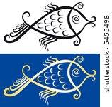 jpeg version. fish symbol. | Shutterstock . vector #5455498